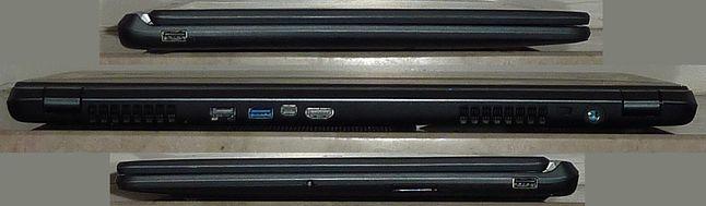 Acer Aspire V5-573PG - widok z lewej, z tyłu, z prawej