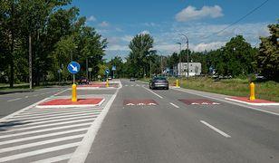 Warszawa. Zmiany na przejściu dla pieszych przy ulicy Radiowej (fot. Zarząd Dróg Miejskich)