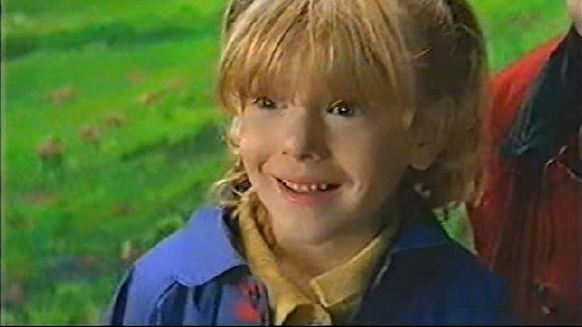 Klaudia Halejcio jako siedmiolatka w znanej reklamie