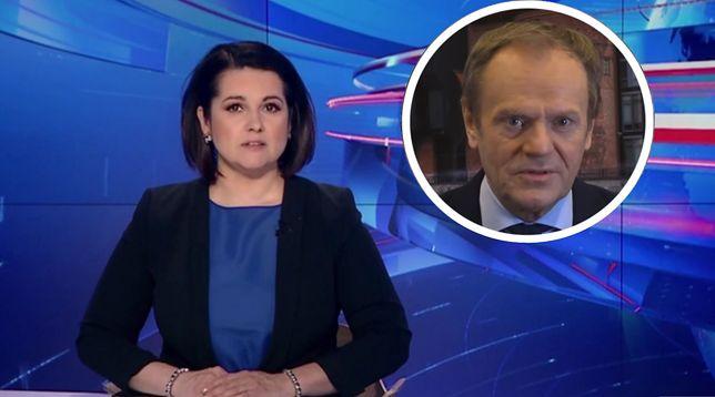 """Donald Tusk i jego """"für Deutschland"""" przypadli do gustu reporterom """"Wiadomości"""""""