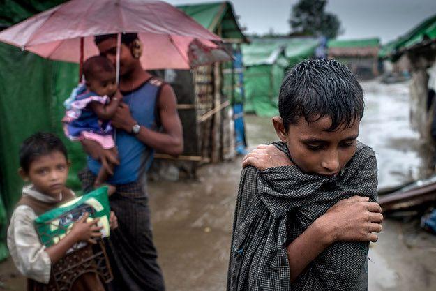 Wewnętrzni uchodźcy Rohingya w obozie Sittwe
