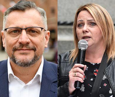 Tomasz Lenz, polityk PO i Iwona Hartwich, działaczka RON