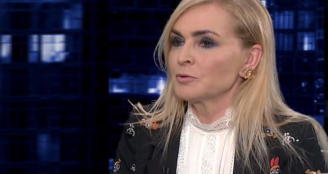 Monika Olejnik wybrała dość nietypową stylizację.