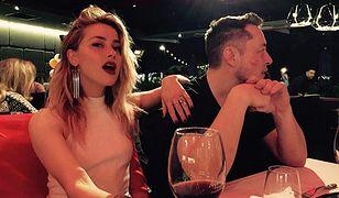 Amber Heard nie ukrywała związku z szefem Tesli, Elonem Muskiem.