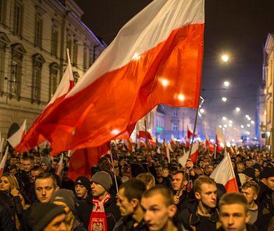 Marsz z okazji 11 listopada, który odbył się w Krakowie trzy lata temu.