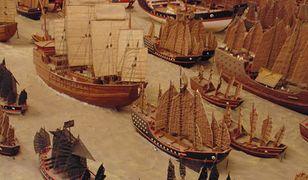 Trzon chińskiej floty stanowiły gigantyczne statki z drewna