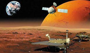 Wizualizacja instrumentów, które zbadają Mars w ramach misji Tianwen-1