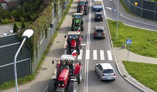 Protest rolników i blokada drogowa.