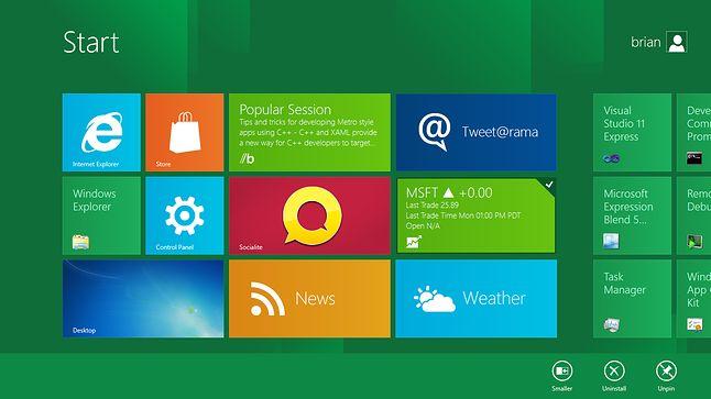 Windows 8 Preview: generator nieufności