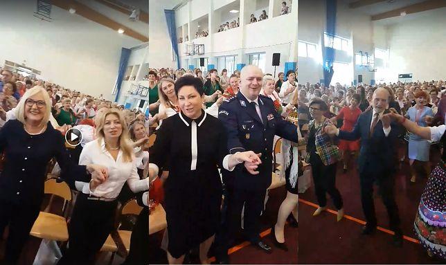 Antoni Macierewicz, szef łódzkiej policji Andrzej Łapiński i Joanna Kopcińska
