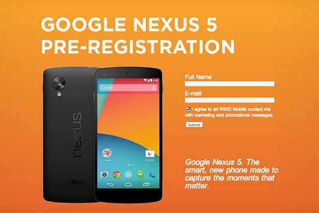 Google Nexus 5 pojawił się u kanadyjskiego operatora
