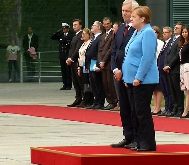 Angela Merkel dostała drgawek po raz trzeci w ostatnim czasie