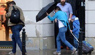 Deszczowy dzień w Warszawie