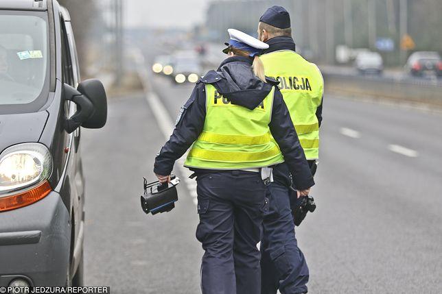 Mężczyzna został ukarany 550 zł mandatem