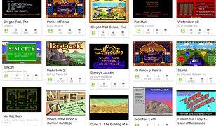Screen z pierwszej strony listy gier MS-DOS dostępnych na stronach Internet Archive