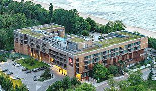 Hotel Marriott w Sopocie z lotu ptaka