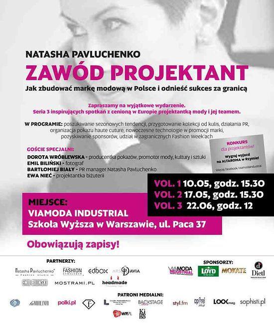 Zawód projektant - spotkanie z Natashą Pavluchenko