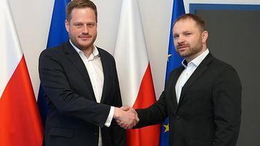 Przemysław Koch został nowym szefem Centralnego Ośrodka Informatyki - Janusz Cieszyński i Przemysław Koch