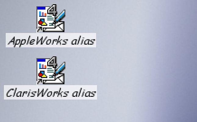 Ikonki Apple Works i Claris Works są dokładnie takie same.