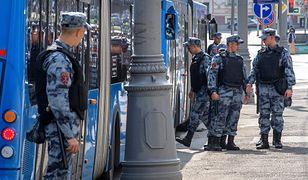 Rosja. Kolejne zatrzymania na ulicach Moskwy.