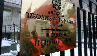 Kijów. Przed ambasadą RP odbył się protest przeciwko zatrzymaniu Ihora Mazura