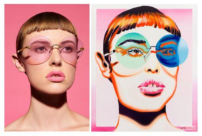 Z lewej: oryginalne zdjęcie Dereka Hendersona z 2017 roku. Z prawej: praca Katarzyny Piotrowicz z 2018 roku