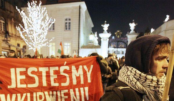 Protest przeciw ACTA przed Pałacem Prezydenckim, 27 stycznia 2012 r.