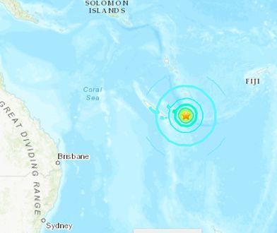 Silne trzęsienie ziemi u wybrzeży Nowej Kaledonii
