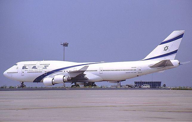 Samolot Boeing 747 w malowaniu linii El Al
