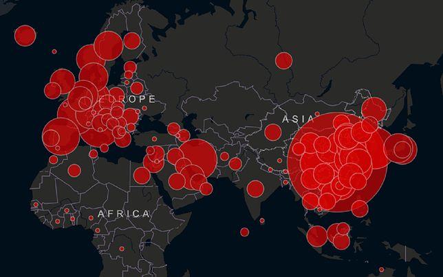 Koronawirus w Polsce i na świecie. Interaktywna mapa zarażeń