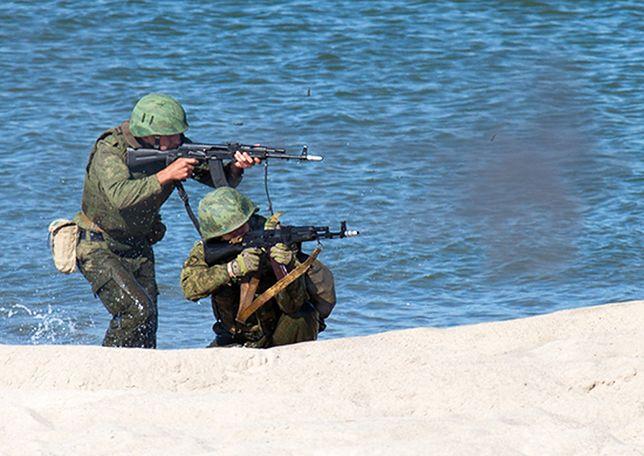 Żołnierze piechoty morskiej Floty Bałtyckiej