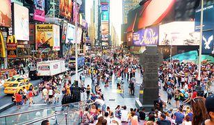 Times Square przed pandemią był zawsze pełen turystów