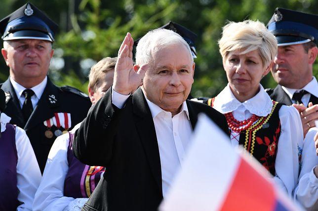 """""""Za cztery lata ktoś inny będzie stał na tym miejscu"""" - powiedział Jarosław Kaczyński w niedzielę."""