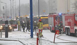 W Warszawie spłonął Lidl. Płomienie wysokie na kilka pięter