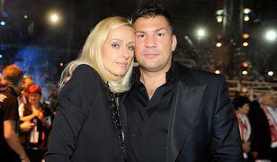 Dariusz Michalczewski z żoną