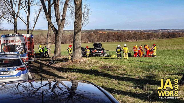 Jawor. Poważny wypadek w okolicach Sichowa. Trzy osoby nie żyją