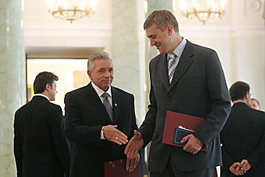 Andrzej Lepper i Roman Giertych