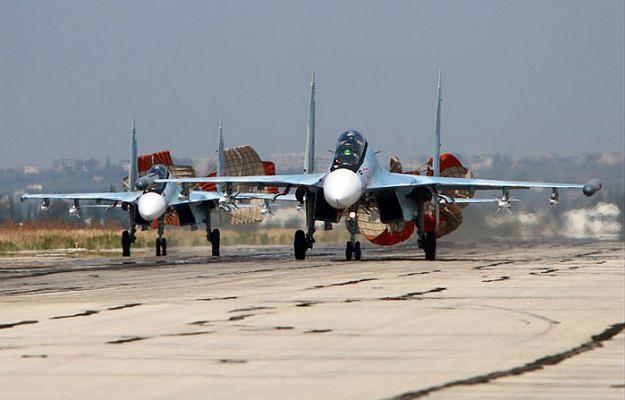 Rosyjski Sukhoi Su-30 SM - Latakia, Syria