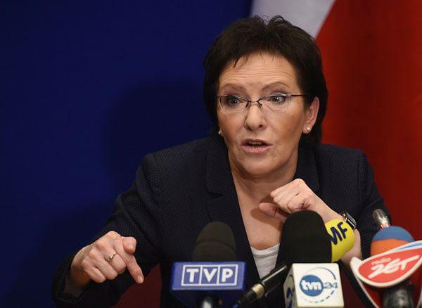 Ewa Kopacz: wracamy ze szczytu z tarczą