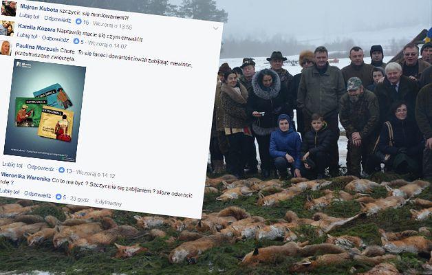209 martwych lisów. Myśliwi pochwalili się pokotem, w sieci zawrzało
