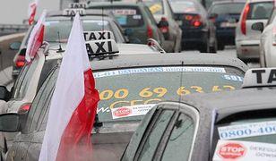 Kilkuset taksówkarzy protestowało na ulicach Krakowa