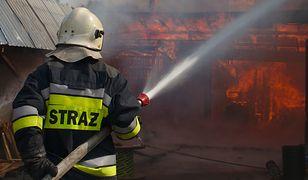 Pożar stanicy WOPR w Międzybrodziu. Spłonął sprzęt