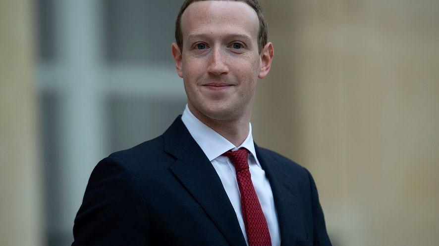 Szef Facebooka Mark Zuckerberg.
