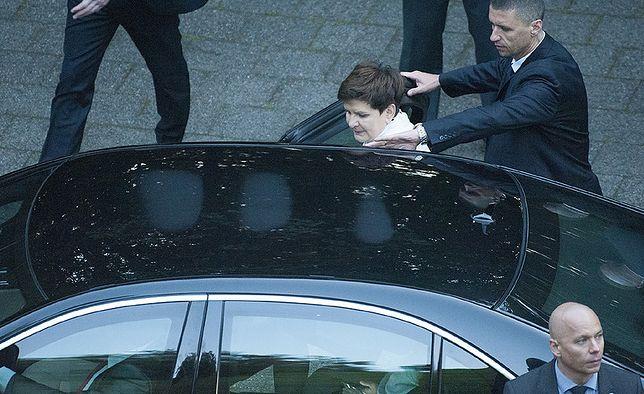 """Limuzynę premier Szydło jej kierowca ubezpieczył z własnej kieszeni. """"Koszty naprawy będą kolosalne"""""""
