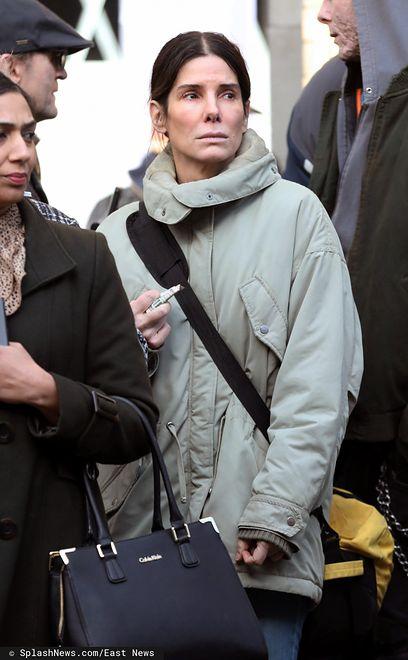 Sandra Bullock na planie filmowym