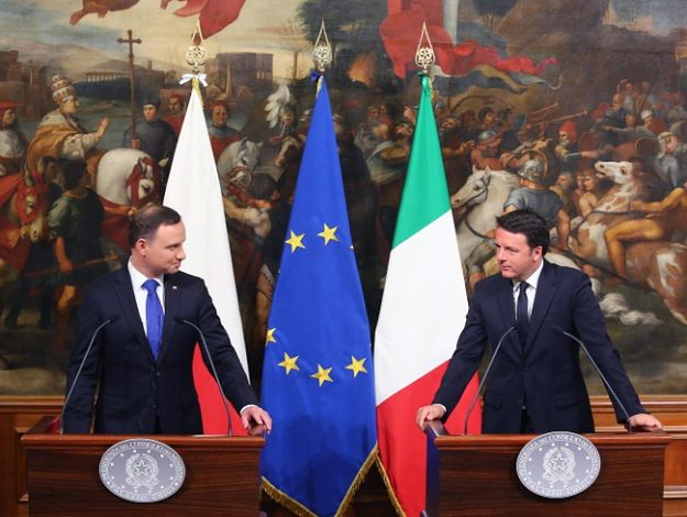 Andrzej Duda i Matteo Renzi