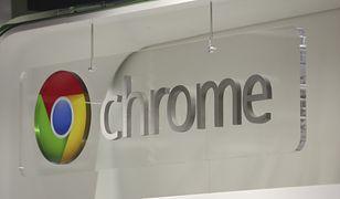 Google Chrome - logo firmy w Londynie.