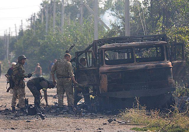 Ciężkie walki przy granicy z Rosją - zdjęcia