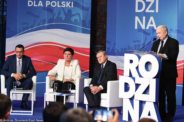 Mateusz Morawiecki, Beata Szydło, Piotr Gliński, Jarosław Kaczyński