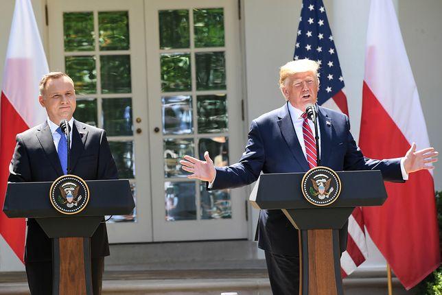 Andrzej Duda i Donald Trump w Polsce